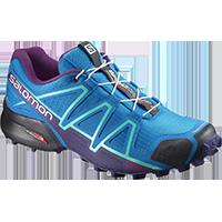 dbed697fb780c Salomon SpeedCross 4 (női) futócipő (kék-zöldeskék-lila)