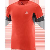 3560904e43ea Salomon Agile SS Tee rövid ujjú (férfi) futópóló (piros)